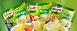 Consigue varios productos de Knorr gratis