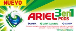 Consigue una muestra gratis del nuevo Ariel 3 en 1