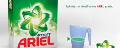 Consigue gratis un dosificador para tu detergente Ariel