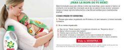 ¡¡2.500 muestras gratis a domicilio de ARIEL BABY!!