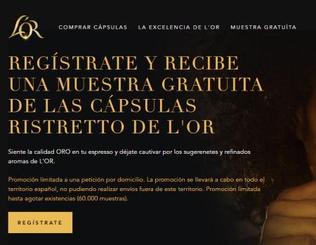 Hay 60.000 muestras gratis de café L'Or Ristretto
