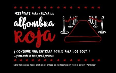 Sorteo de entradas de cine para la gala de los Goya