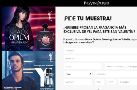 Consigue muestras gratis de Yves Saint Laurent Fragrances